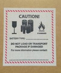 Lithium Batteries warning